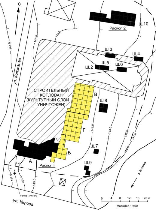 план селища Болшево-3